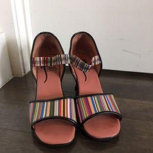 Fabulous Striped Fluevog Sandels